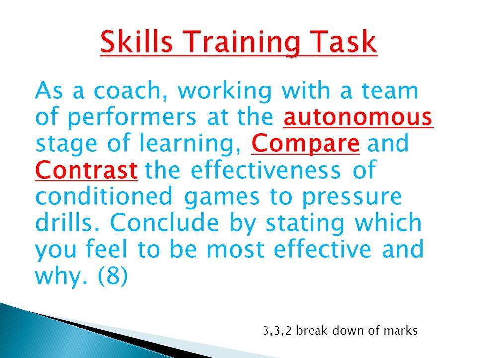 Skills Training Task