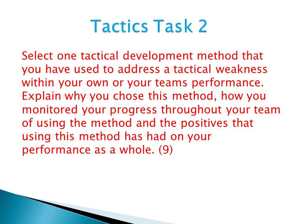 Tactics Task 2
