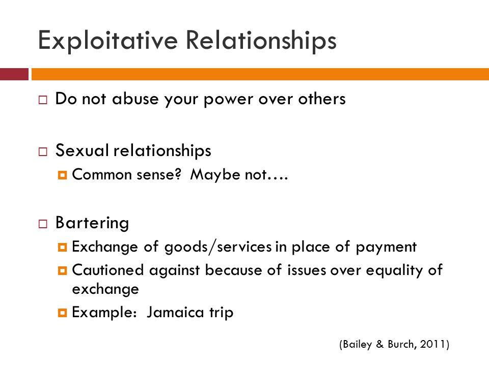 Exploitative Relationships