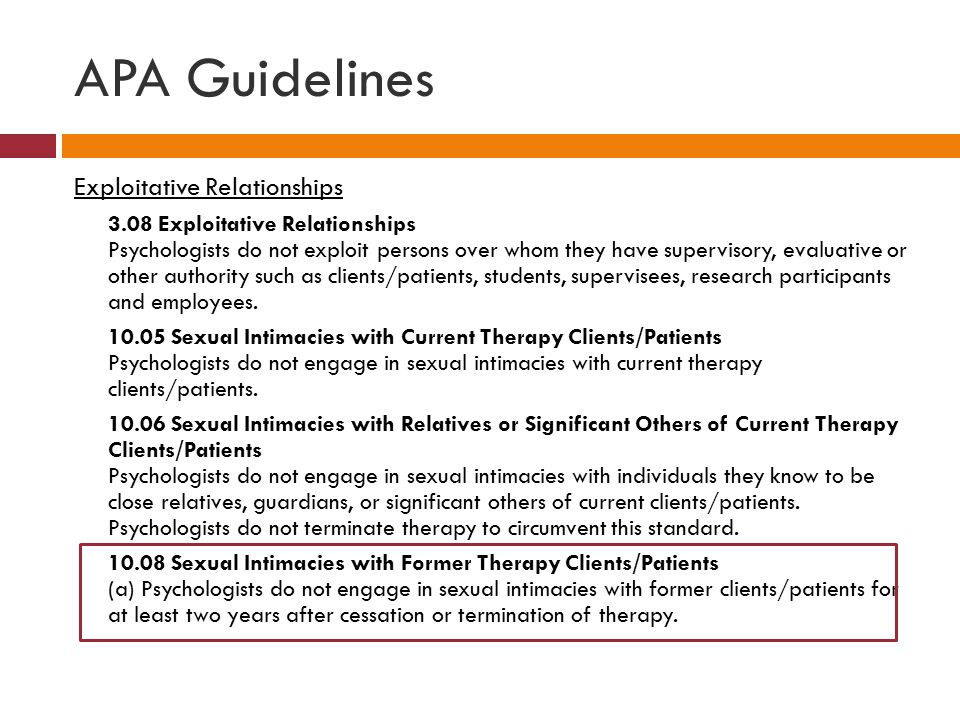 APA Guidelines Exploitative Relationships