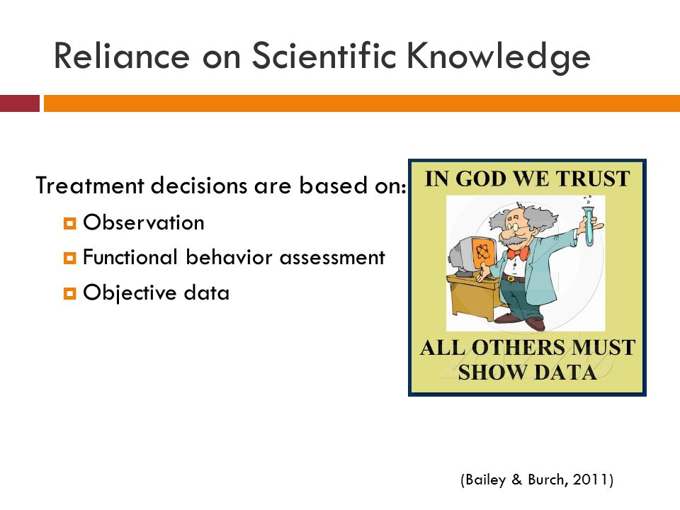 Reliance on Scientific Knowledge