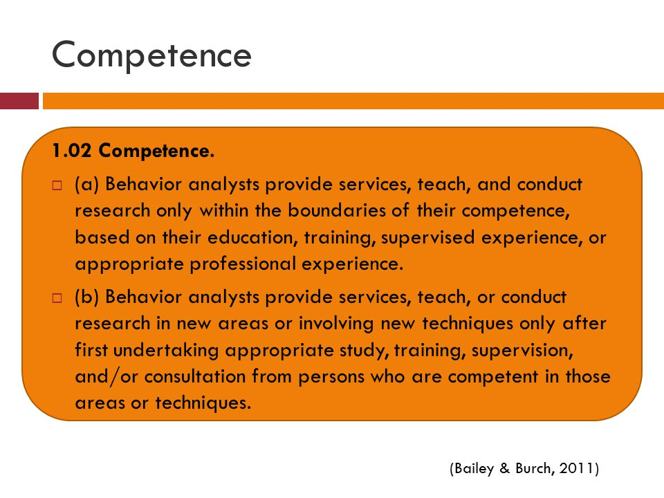 Competence 1.02 Competence.