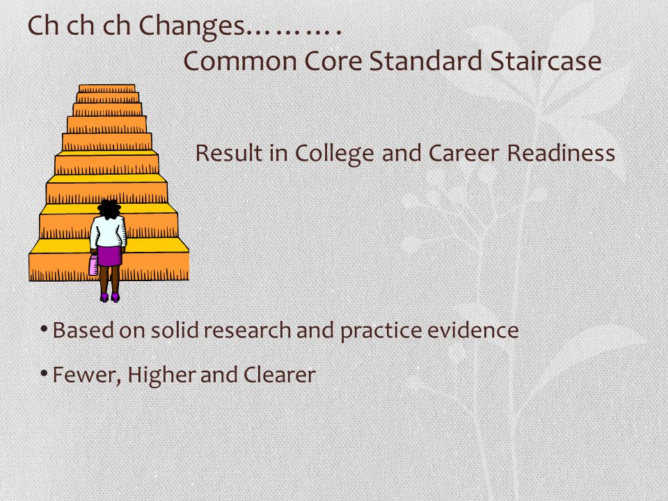Ch ch ch Changes………. Common Core Standard Staircase