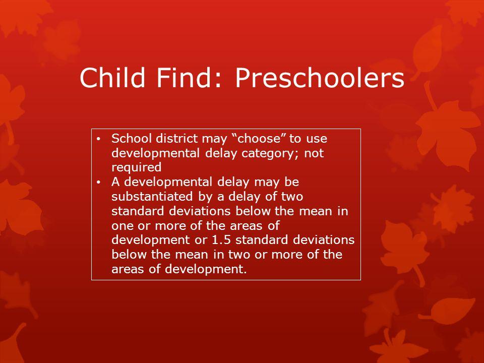 Child Find: Preschoolers