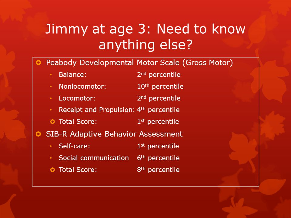 Jimmy at age 3: Need to know anything else
