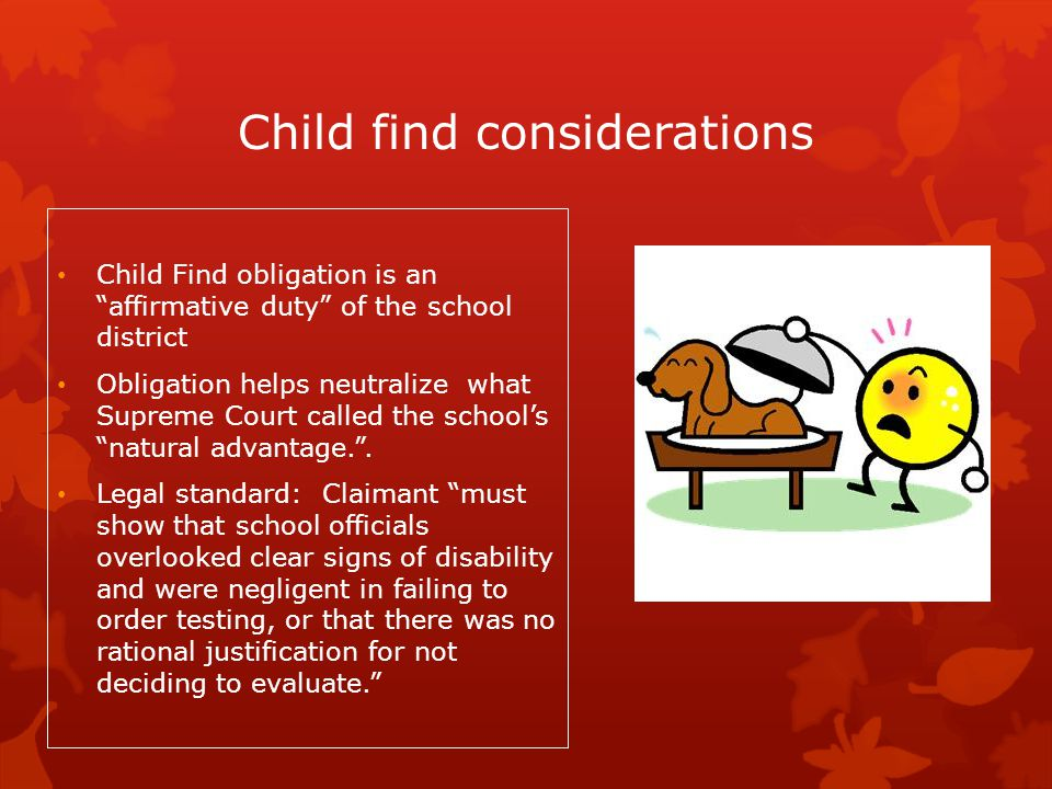 Child find considerations