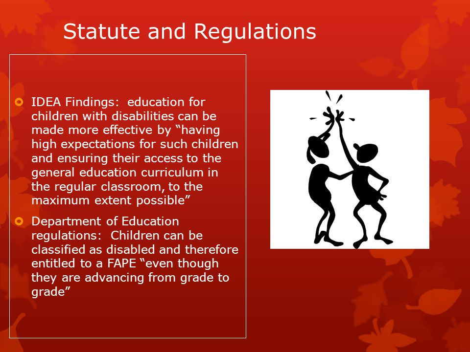 Statute and Regulations