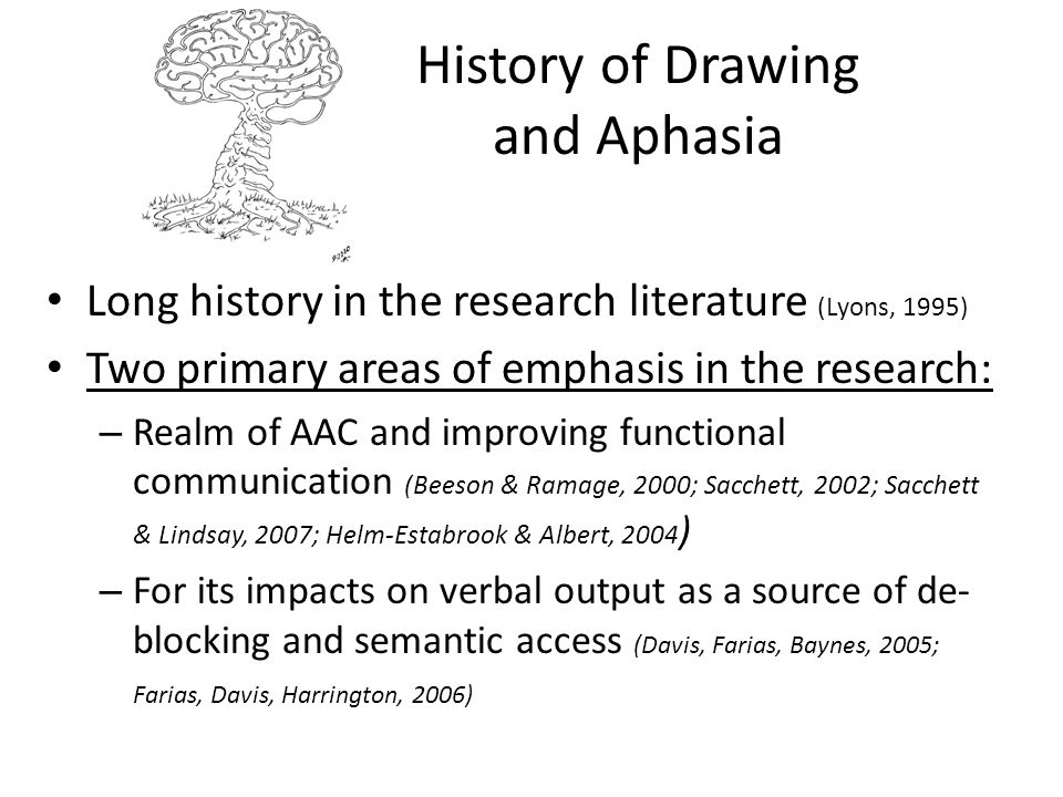 History of Drawing and Aphasia