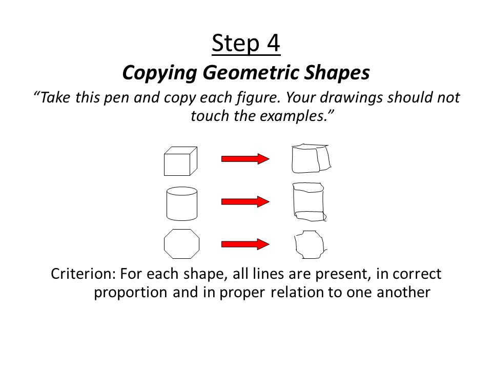 Step 4 Copying Geometric Shapes