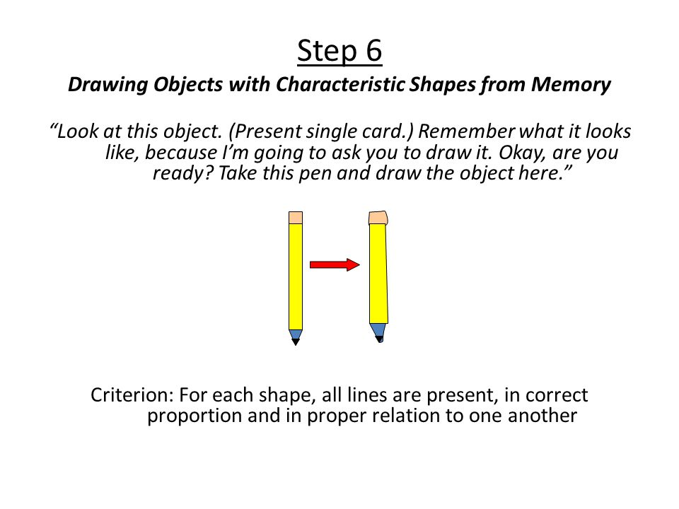 Step 6 Drawing Objects with Characteristic Shapes from Memory