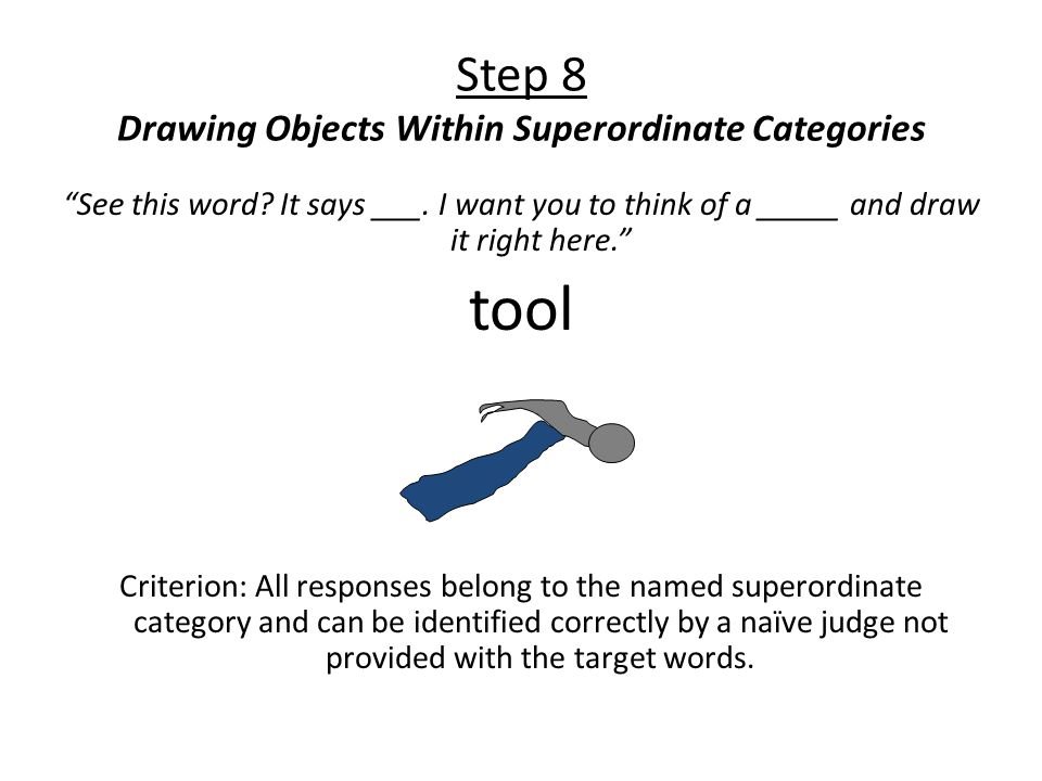 Step 8 Drawing Objects Within Superordinate Categories