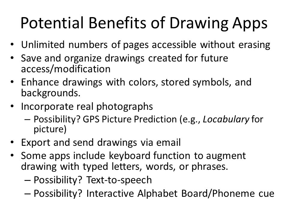 Potential Benefits of Drawing Apps