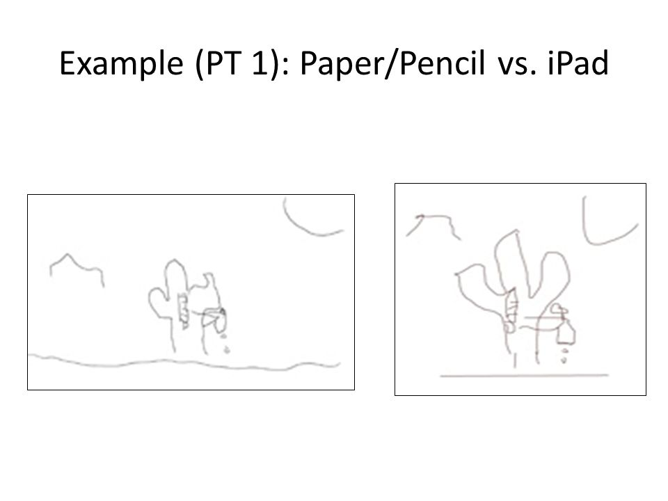 Example (PT 1): Paper/Pencil vs. iPad