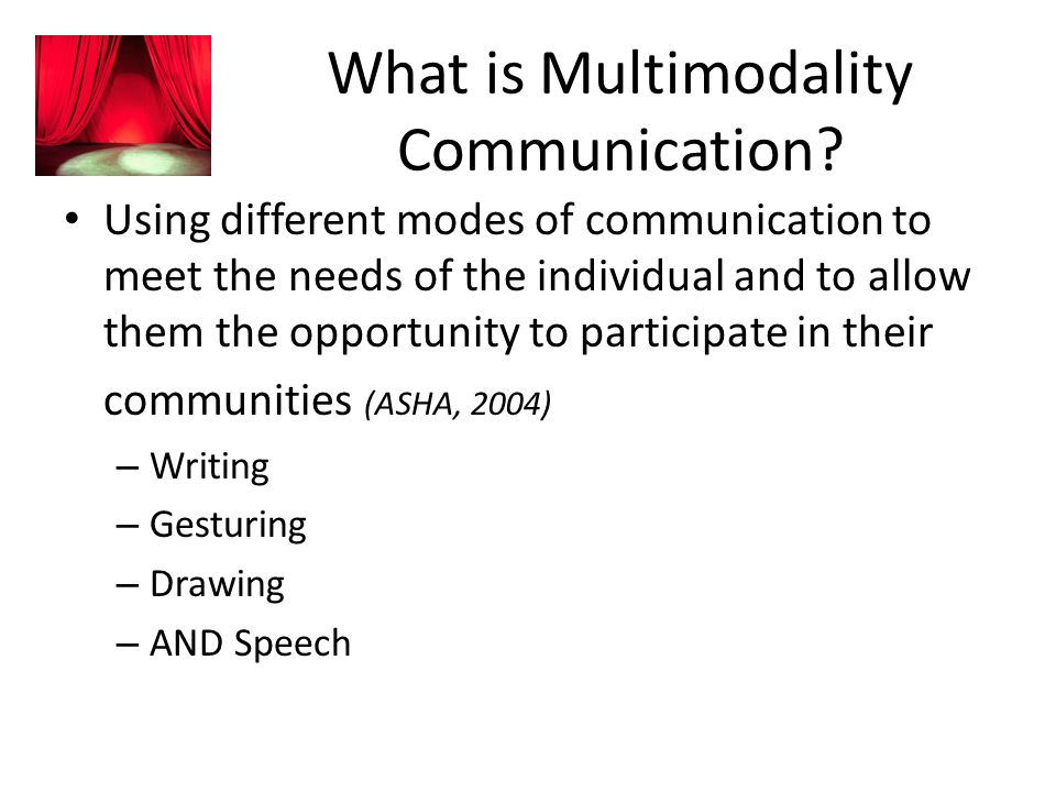 What is Multimodality Communication