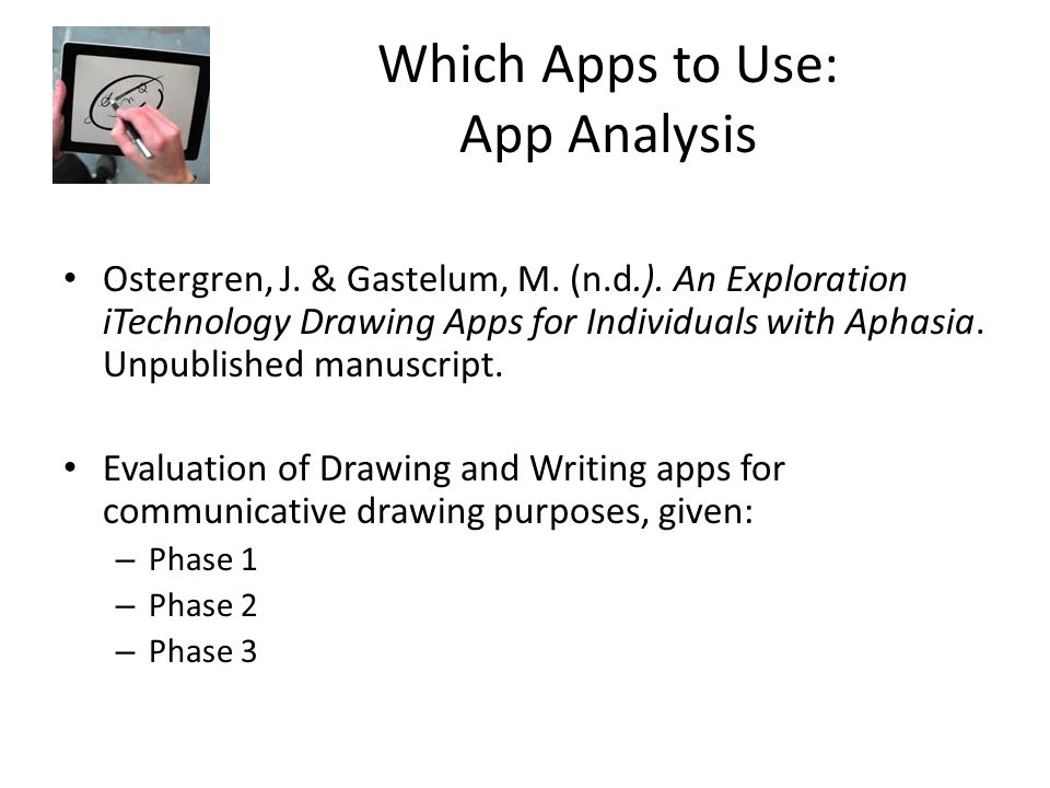 Which Apps to Use: App Analysis