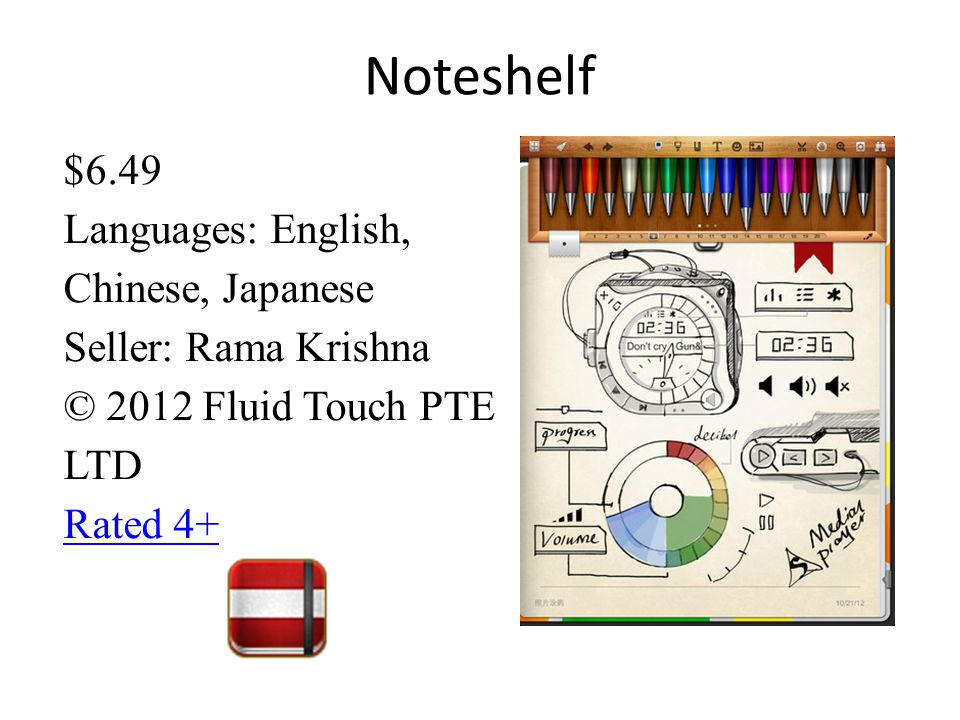 Noteshelf $6.49 Languages: English, Chinese, Japanese