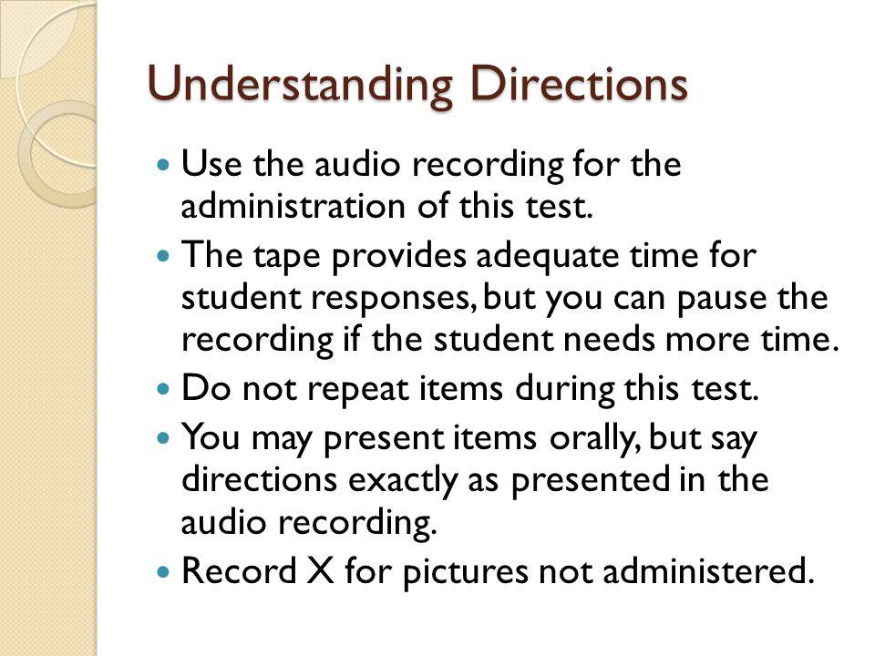 Understanding Directions