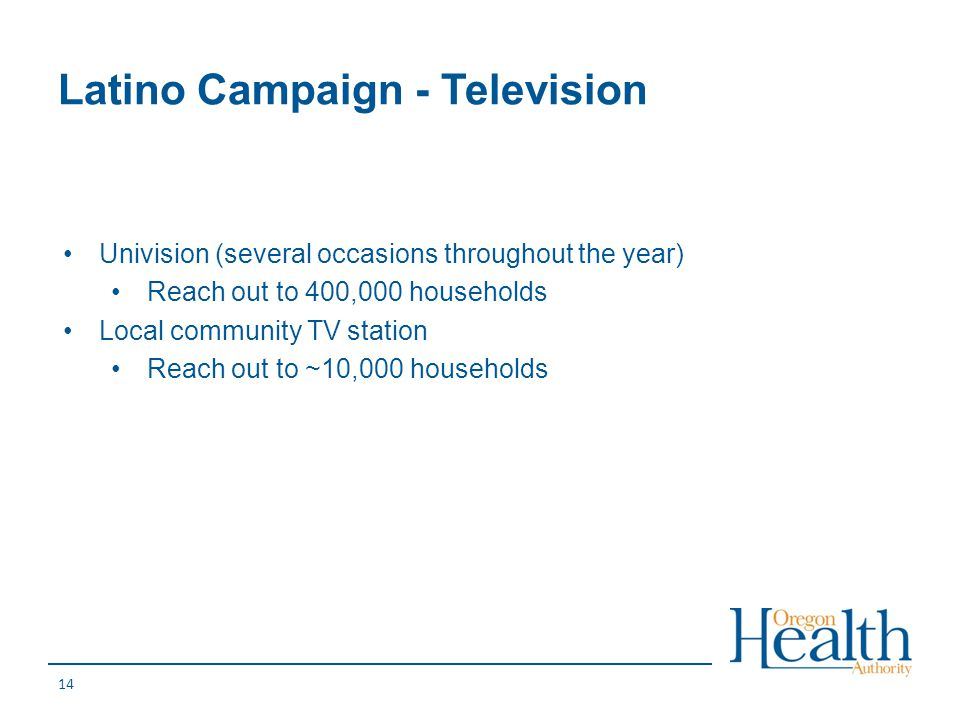 Latino Campaign - Television