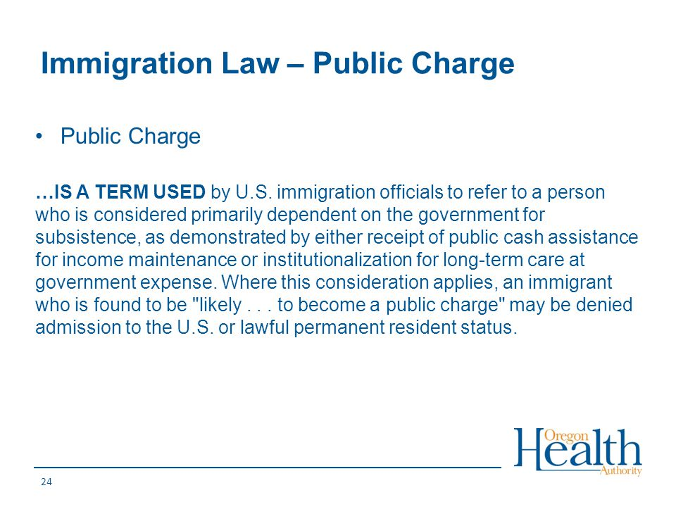 Immigration Law – Public Charge