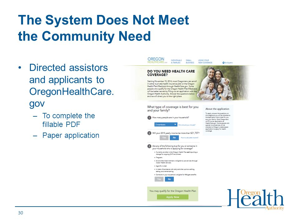 The System Does Not Meet the Community Need