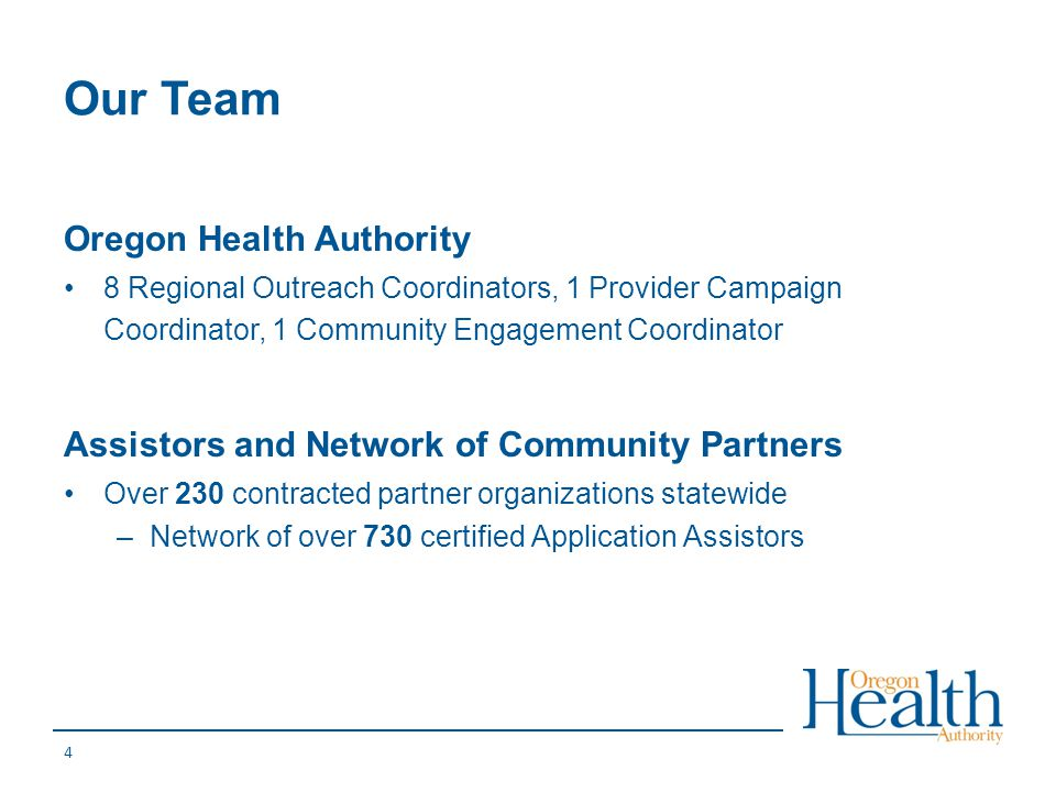 Our Team Oregon Health Authority