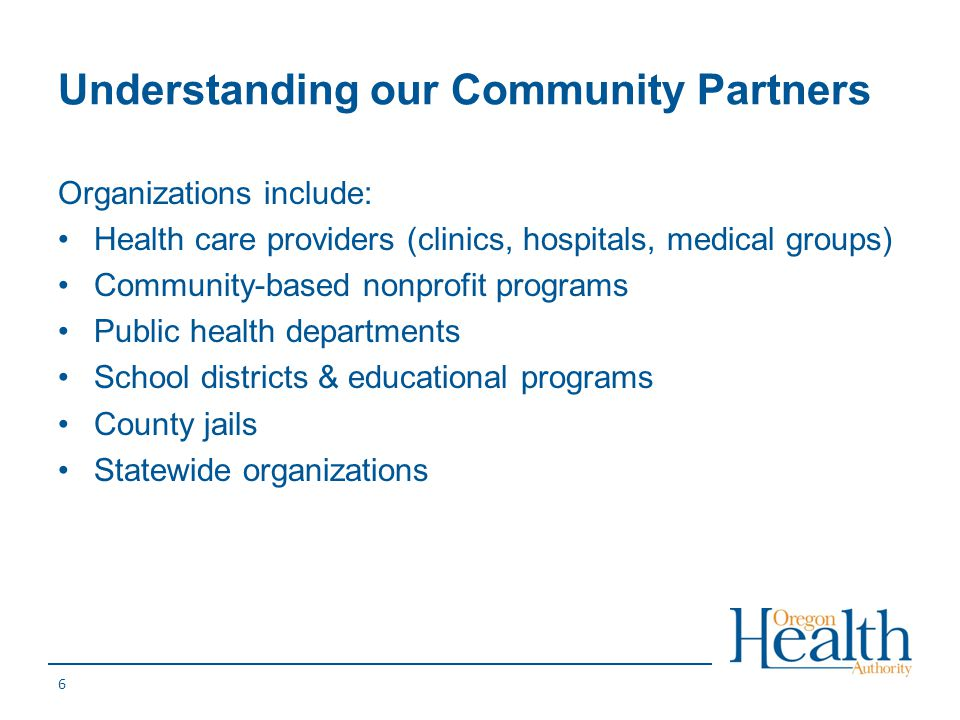 Understanding our Community Partners