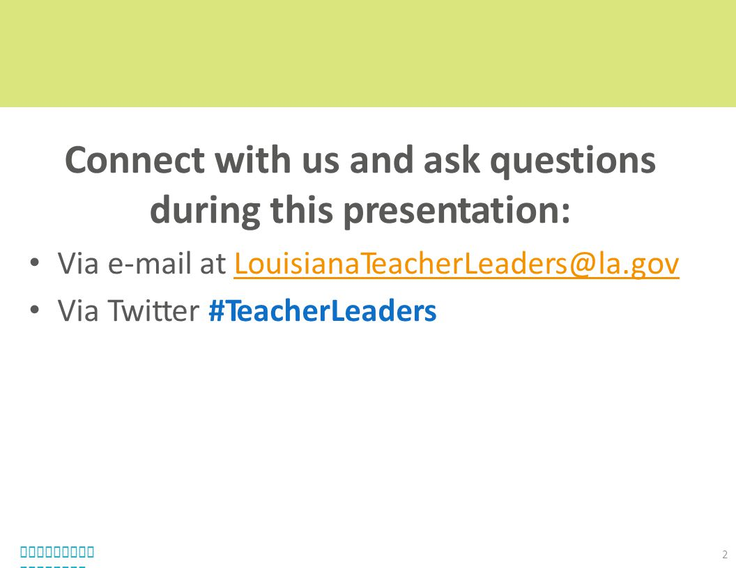 Connect with us and ask questions during this presentation: