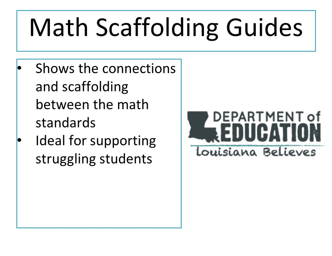 Math Scaffolding Guides