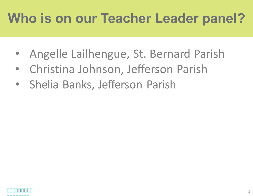 Who is on our Teacher Leader panel
