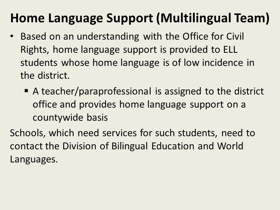 Home Language Support (Multilingual Team)