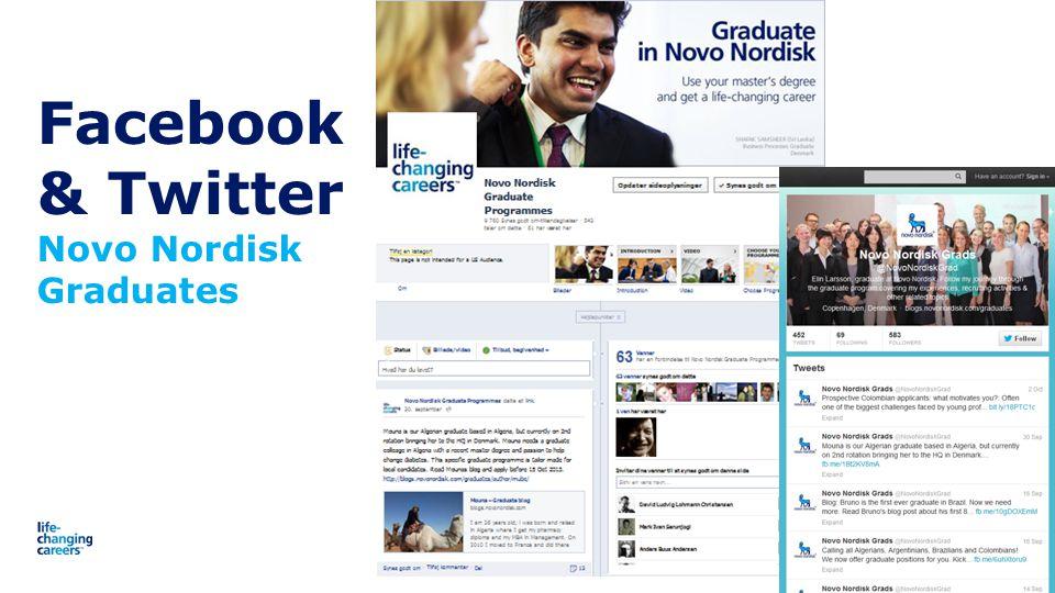 Facebook & Twitter Novo Nordisk Graduates