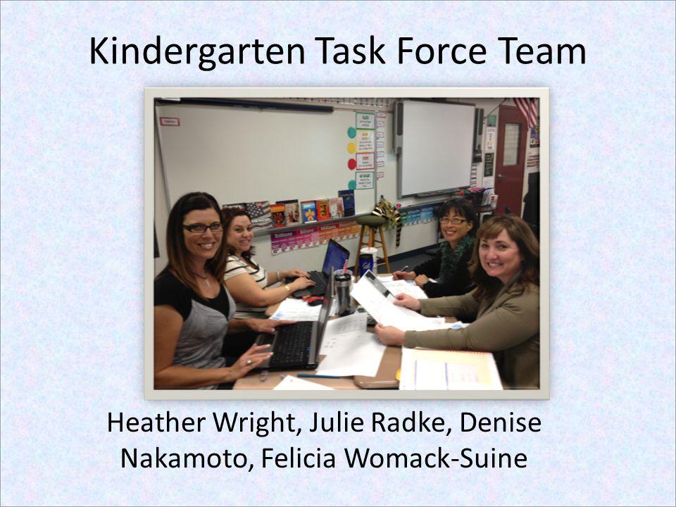 Kindergarten Task Force Team