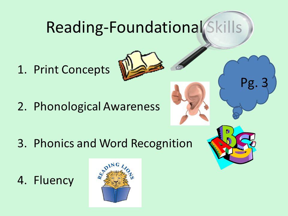 Reading-Foundational Skills