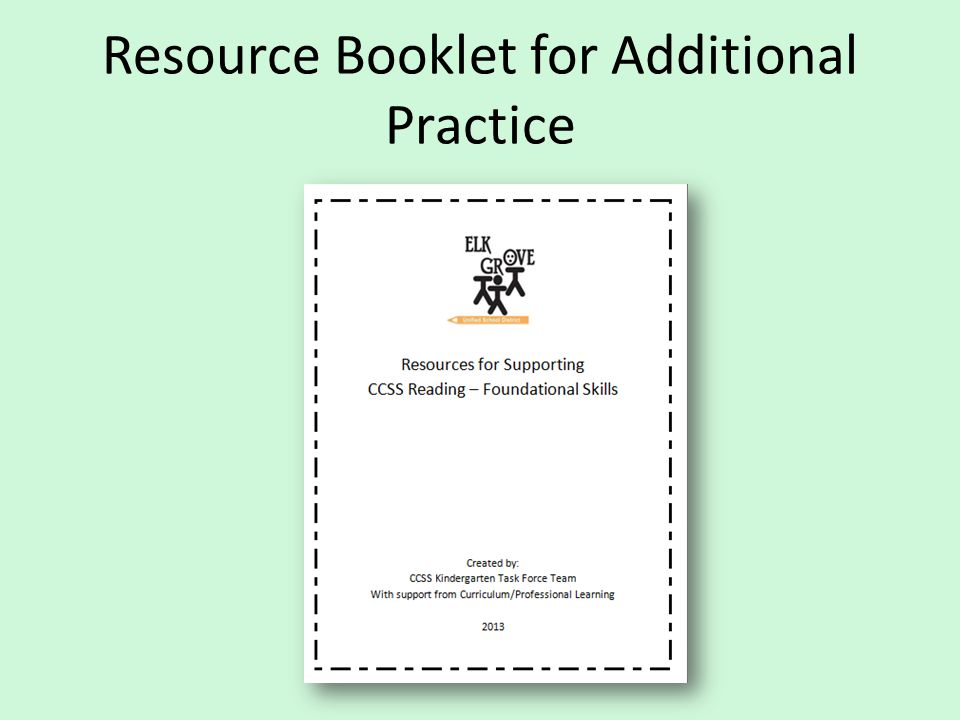 Resource Booklet for Additional Practice