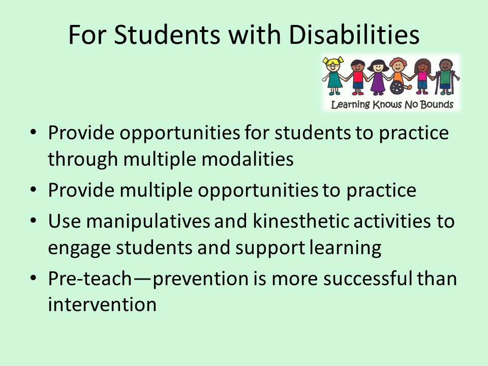 For Students with Disabilities