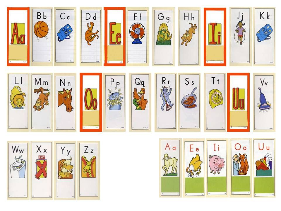 Substitute K Robot card. B ah. C ah. D ah. Green box/short vowel or short vowel… do not just say green box.