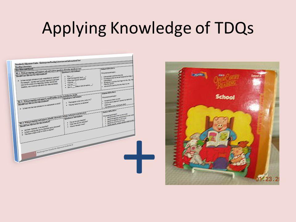 Applying Knowledge of TDQs