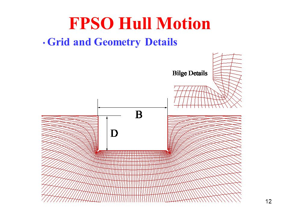 FPSO Hull Motion Grid and Geometry Details