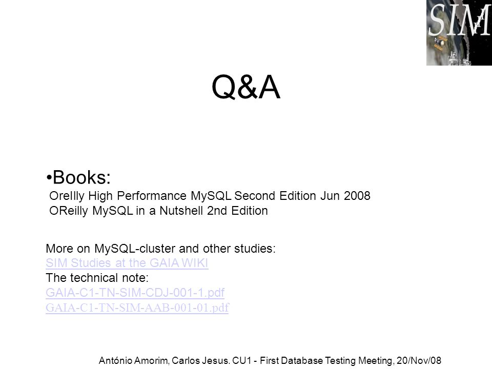 Q&A Books: OreIlly High Performance MySQL Second Edition Jun 2008