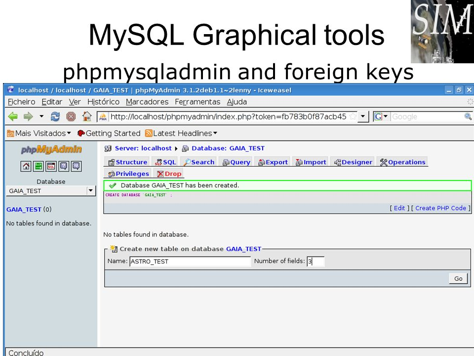 phpmysqladmin and foreign keys