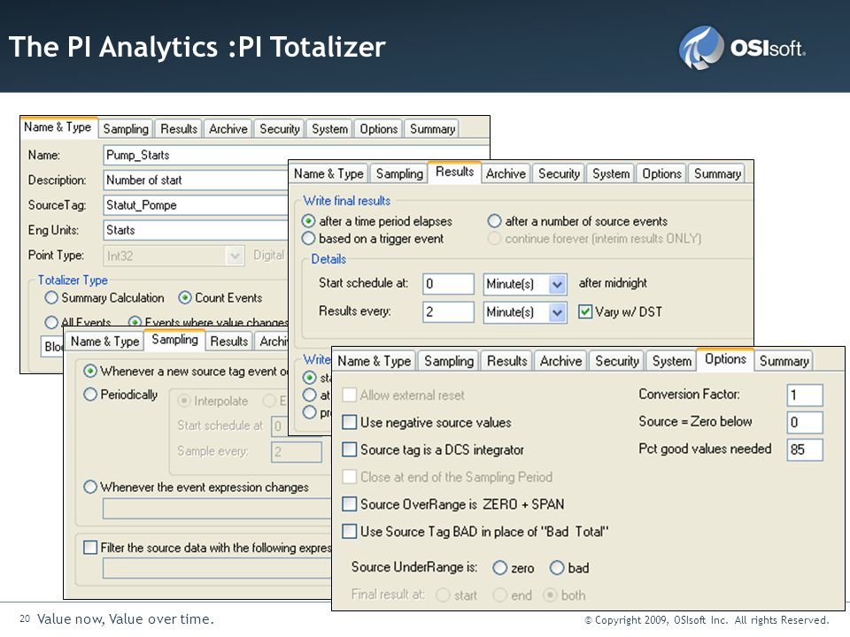 The PI Analytics :PI Totalizer
