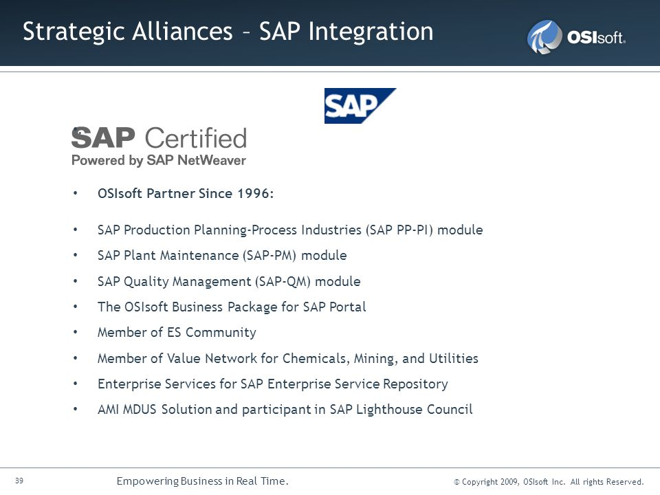 Strategic Alliances – SAP