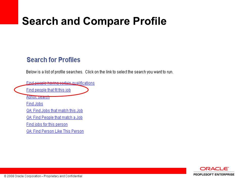 Search and Compare Profile