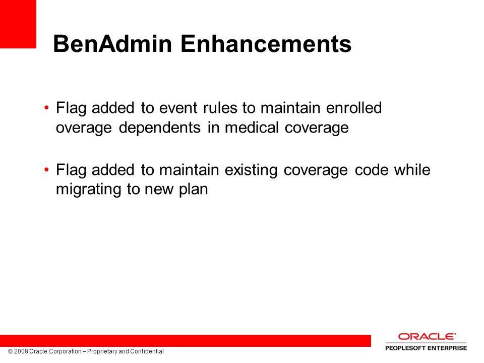 BenAdmin Enhancements