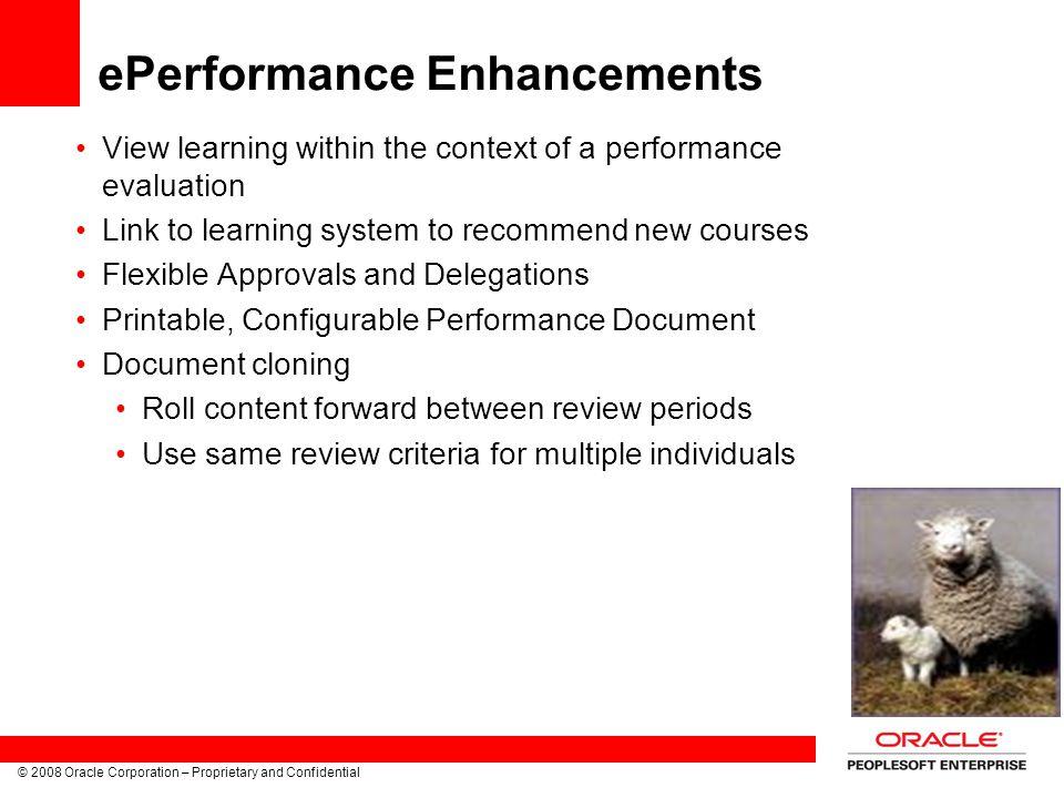 ePerformance Enhancements