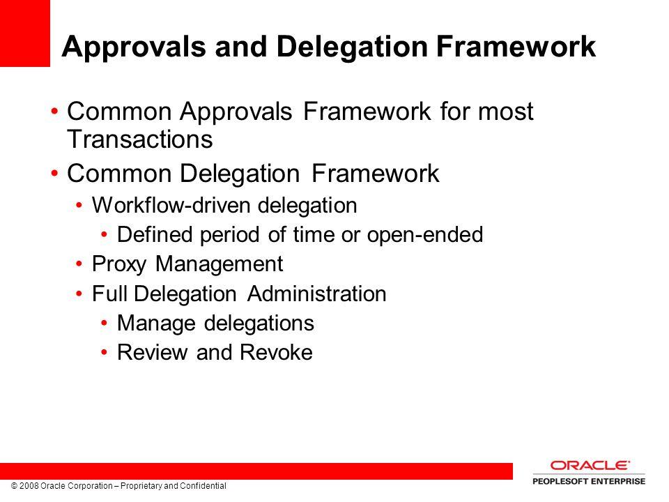 Approvals and Delegation Framework