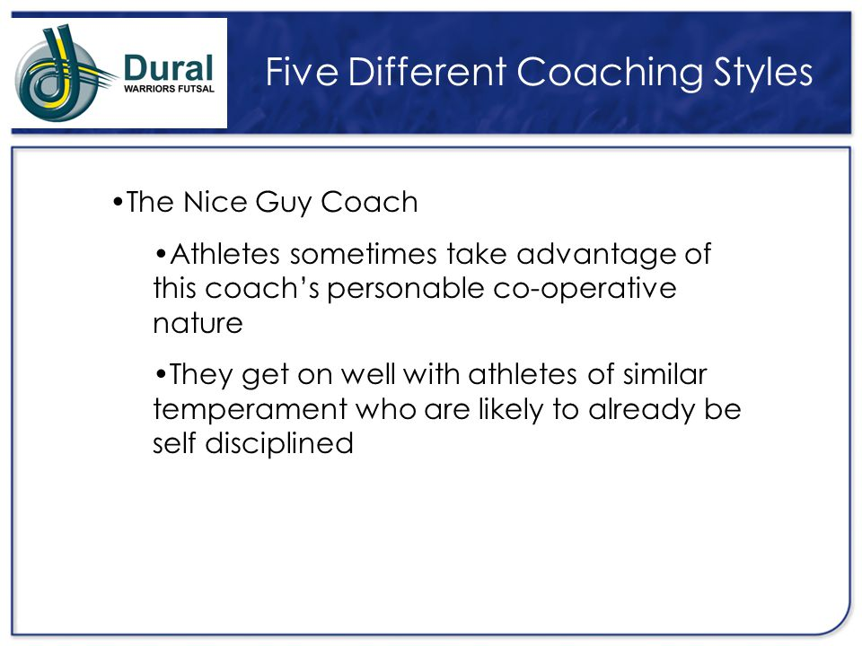 Five Different Coaching Styles
