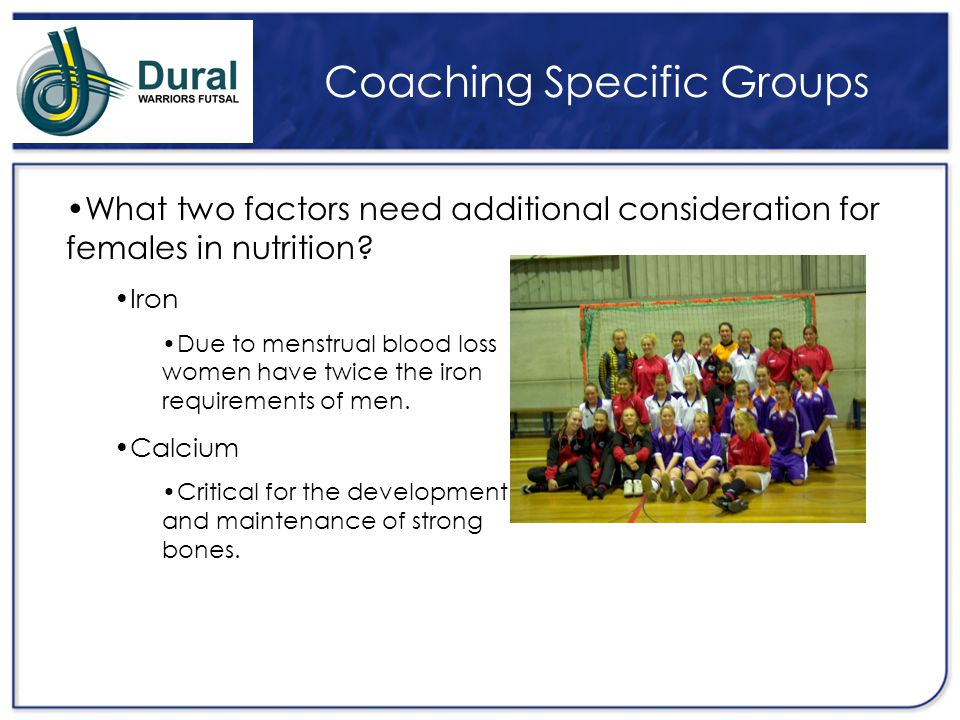 Coaching Specific Groups