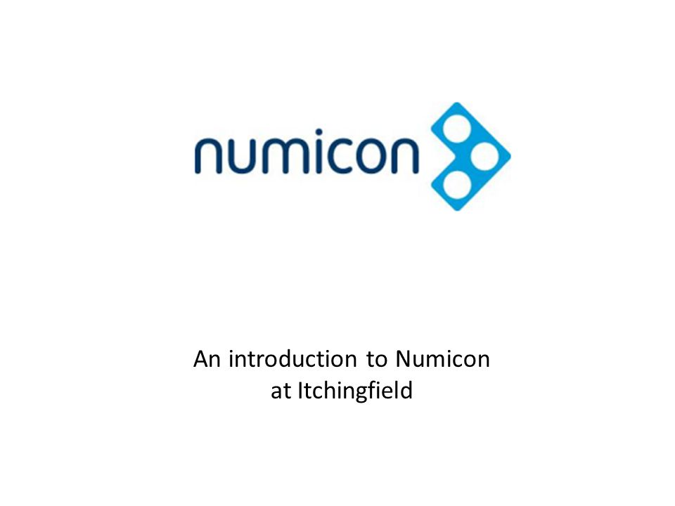 An introduction to Numicon