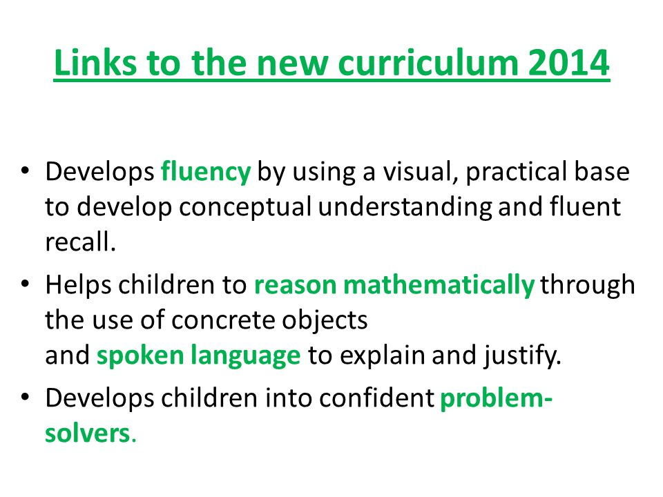 Links to the new curriculum 2014